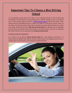 Important Tips To Choose a Best Driving School