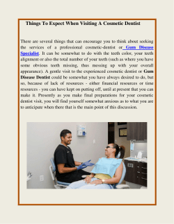Things To Expect When Visiting A Cosmetic Dentist