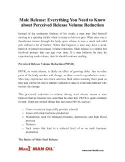 Male Release - Everything You Need to Know about Perceived Release Volume Reduction
