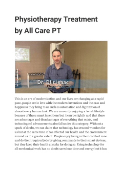 Physiotherapy Treatment by All Care PT
