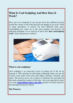 Know About Cool Sculpting And How Does It Work