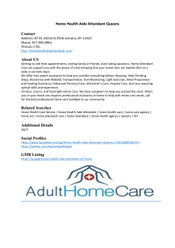 Home Health Aide Attendant Queens
