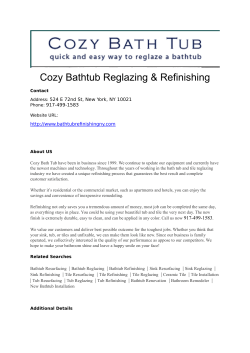 Cozy Bathtub Reglazing & Refinishing