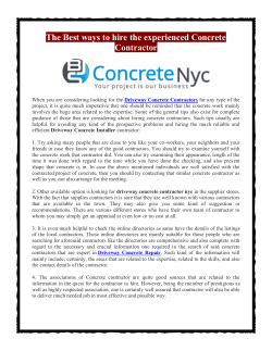 The Best ways to hire the experienced Concrete Contractor