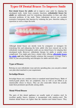 Types Of Dental Braces To Improve Smile