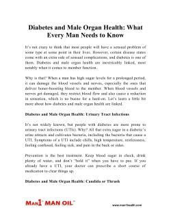 Diabetes and Male Organ Health - What Every Man Needs to Know