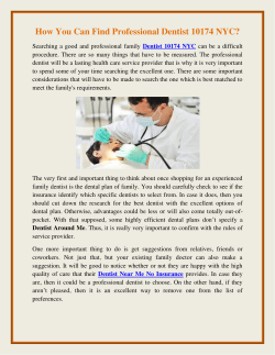 How You Can Find Professional Dentist 10174 NYC