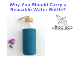 Why You Should Carry a Reusable Water Bottle
