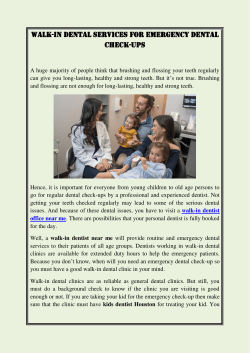 WALK-IN DENTAL SERVICES FOR EMERGENCY DENTAL CHECK-UPS